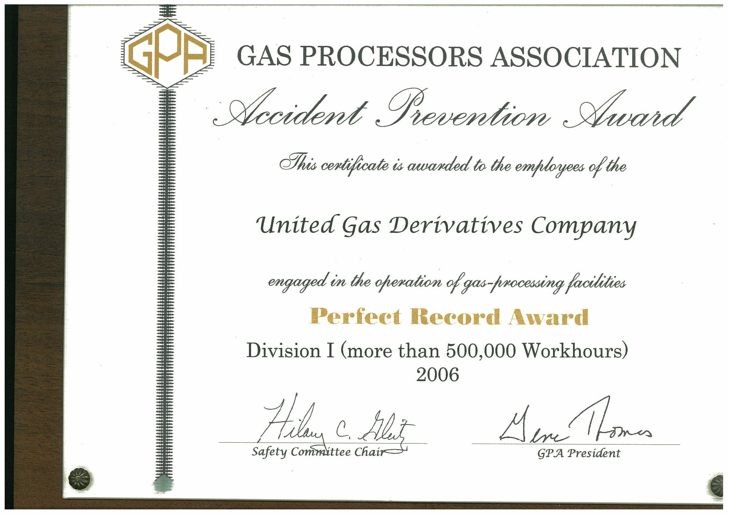 GPA 2006 perfect record (Copy)